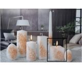 Lima Květinová svíčka oranžová krychle 65 x 65 mm 1 kus