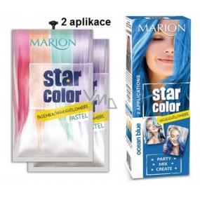 Marion Star Color smývatelná barva na vlasy Ocean Blue - Modrý oceán 2 x 35 ml