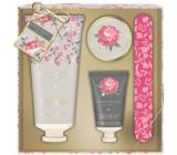 Baylis & Harding Růžová magnolie a Květy hrušky mléko na ruce 75 ml + peeling na ruce 30 ml + krystalky pro vodní lázeň rukou 20 ml + pilník na nehty, kosmetická sada péče o ruce