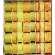 Ditipo Stuha látková s drátkem žlutá s motýlkem 2 m x 40 mm 1 kus