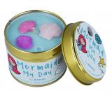 Bomb Cosmetics Potěšení mořské panny - Mermaid My Day Vonná přírodní, ručně vyrobena svíčka v plechové dóze hoří až 35 hodin