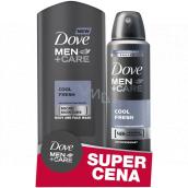Dove Men + Care Cool Fresh sprchový gel 250 ml + antiperspirant sprej pro muže 150 ml, duopack