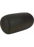 Albi Relaxační polštář Černý a zlaté puntíky 43 x 15 cm
