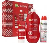 Garnier Body Intensive Repair Box regenerační tělové mléko 400 ml + Mineral Magnesium Ultra Dry 72h antiperspirant sprej 150 ml + krém na ruce 100 ml, kosmetická sada