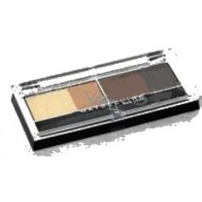 Maybelline Expert Wear Quad oční stíny 05 Glamour browns hnědé odstíny