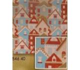 Nekupto Vánoční balicí papír Domky 0,7 x 1,5 m BJ 846 40