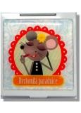 Nekupto Miss Cool dárkové zrcátko do kabelky 002 Myška Roztomilá parádnice 1 kus