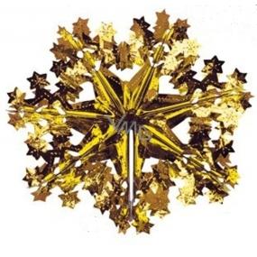 Vločka závěsná zlato měděná 30 cm