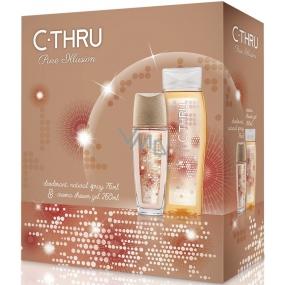 C-Thru Pure Illusion parfémovaný deodorant sklo pro ženy 75 ml + sprchový gel 250 ml, kosmetická sada