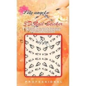 Lily Angel 3D nálepky na nehty 10100 B014 1 aršík