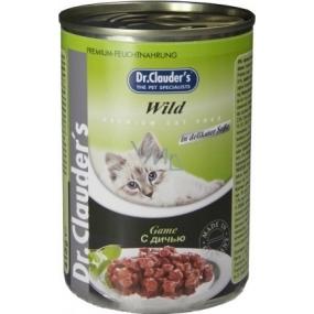 Dr. Clauders Cat Wild kompletní krmivo s jemnými kousky zvěřiny 415 g