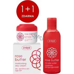 Ziaja Květ růže hydratační denní krém 50 ml + micelární voda 200 ml, duopack