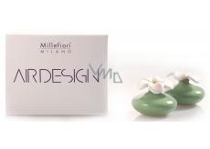 Millefiori Milano Air Design Difuzér květina nádobka pro vzlínání vůně pomocí porézní vrchní části mini zelená 2 kusy, 80 ml, 7 x 6 cm