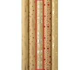 Zöllner Vánoční Luxusní balicí papír s ražbou Luxury stříbrný Merry Christmas dárky, stromky, sněhulák 1,5 m x 70 cm