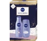 Nivea Smooth Sensation tělové mléko 250 ml + sprchový gel 250 ml, kosmetická sada pro ženy