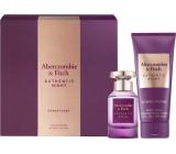 Abercrombie & Fitch Authentic Night Woman parfémovaná voda pro ženy 50 ml + tělové mléko 200 ml, dárková sada