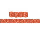 Girlanda Halloween dýně oranžová 400 x 11,5 cm