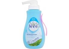 Veet Aloe Vera Vitamínem E depilační krém pro citlivou pokožku 400 ml pumpička