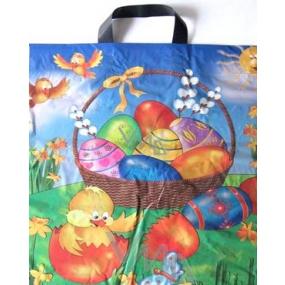 Press Velikonoční igelitová taška s uchem Kuřátko a vajíčka 45 x 50 cm 1 kus