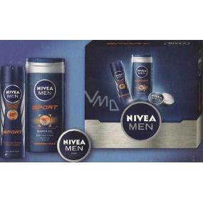 Nivea Men Deo Sport antiperspirant sprej 150 ml + sprchový gel 250 ml + krém 30 ml, kosmetická sada