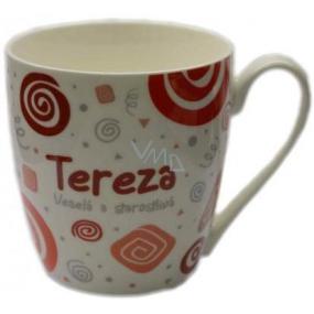 Nekupto Twister hrnek se jménem Tereza červený 0,4 litru