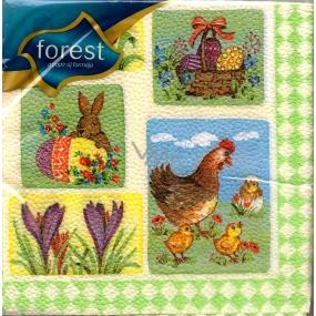 Forest Obrázkové motivy velikonoční ubrousky 33 x 33 cm 1 vrstvé 20 kusů