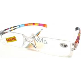 Berkeley Čtecí dioptrické brýle bez obrouček +1,0 růžovooranžové CB01 1 kus MC2066