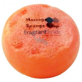 Fragrant Dupe Woman Glycerinové mýdlo masážní s houbou naplněnou vůní parfému Joop Woman v barvě oranžovorůžové 200 g