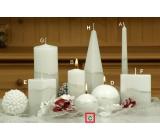 Lima Artic svíčka bílá koule 80 mm 1 kus