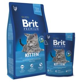 Brit Premium Kitten Kuře + omáčka z lososa pro koťata a březí a kojící kočky 8 kg Kompletní krmivo
