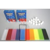 Dortové svíčky s držáky Modrá 15 kusů