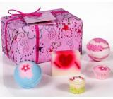 Bomb Cosmetics Růženka balistik 2x160 g + dortíček 30 g + špalíček 30 g + mýdlo 100 g, kosmetická sada