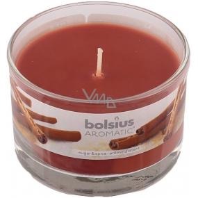 Bolsius Aromatic Sugar & Spice - Cukr a koření vonná svíčka ve skle 90 x 65 mm 247 g doba hoření cca 30 hodin
