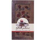 Bohemia Gifts & Cosmetics Mléčná hořká čokoláda Sladké pokušení Višně ručně vyráběná 80 g