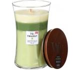 WoodWick Trilogy Garden Oasis - vonná svíčka s dřevěným knotem a víčkem sklo velká 609,5 g