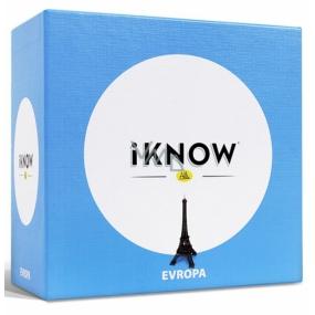 Albi iKnow Mini Evropa Důvtipná kvízová hra kombinující vědomosti s chytrou taktikou 2-4 hráčů doporučený věk od 12+