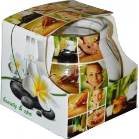 Admit Beauty Spa - Krása a lázně dekorativní aromatická svíčka ve skle zelená 80 g