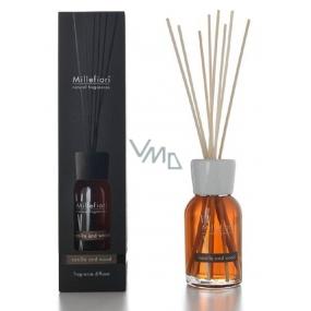Millefiori Milano Natural Vanilla & Wood - Vanilka a dřevo Difuzér 100 ml + 7 stébel v délce 25 cm do menších prostor vydrží 5-6 týdnů