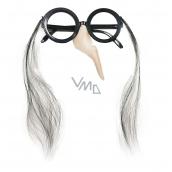 Brýle s nosem čarodějnickéú halloween