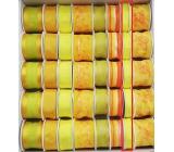 Ditipo Stuha látková s drátkem žlutá neon 4 m x 15 mm