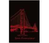 Ditipo Sešit City Gold Collection A4 linkovaný San Francisco 21 x 29,5 cm 3421002