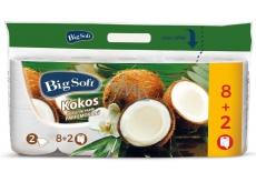 Big Soft Kokos parfemovaný toaletní papír bílý 2 vrstvý 200 útržků 10 kusů