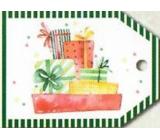 Nekupto Vánoční kartičky na dárky barevné balíčky 5,5 x 7,5 cm 6 kusů