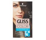 Schwarzkopf Gliss Color barva na vlasy 5-1 Chladný hnědý 2 x 60 ml