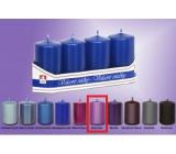 Lima Svíčka hladká metal violet válec 40 x 70 mm 4 kusy