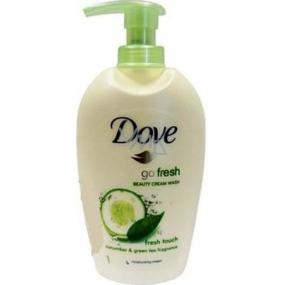 Dove Go Fresh Touch Okurka & Zelený čaj tekuté mýdlo s dávkovačem 250 ml
