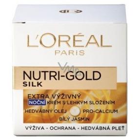 Loreal Paris Nutri-Gold Silk Extra výživný noční krém 50 ml