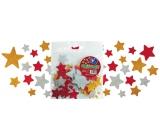 Samolepící dekorační glitrové hvězdičky z EVA pěny 20 kusů