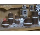 Lima Aura Skořice vonná svíčka hnědá koule 80 mm 1 kus