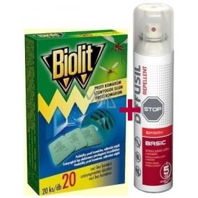 Diffusil Repellent Basic repelentní sprej na odpuzování komárů, klíšťat a muchniček 75 ml + Biolit polštářky do elektrického odpuzovače komárů náplň 20 kusů